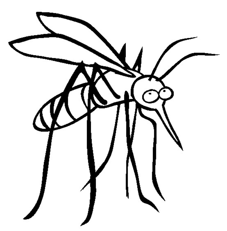 Free Printable Mosquito Coloring Pages