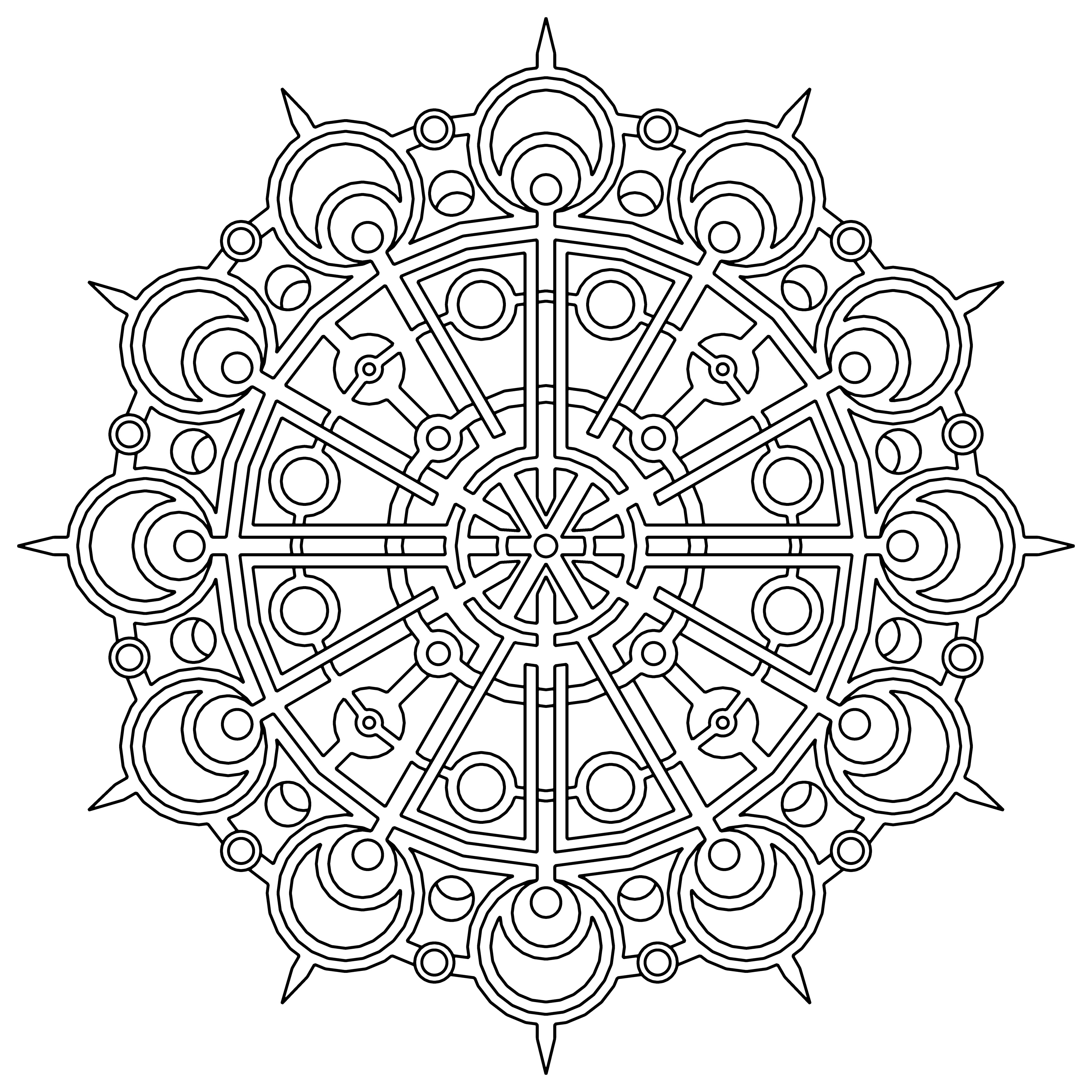 Free printable geometric coloring pages for kids for Color pages com