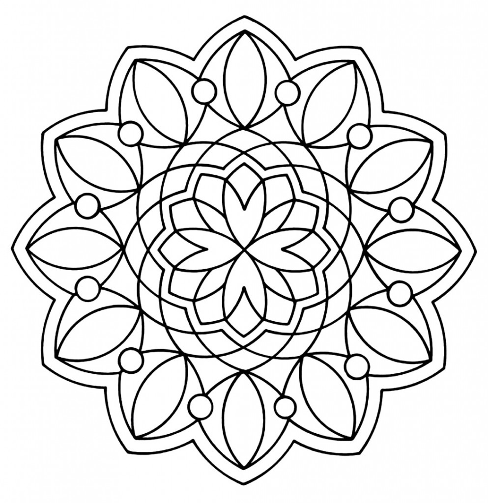 Free Printable Geometric Coloring