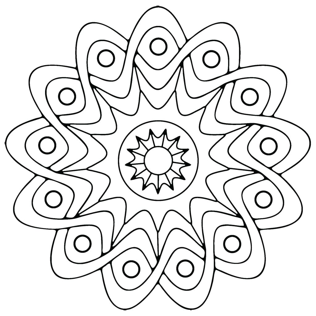 Free printable geometric coloring pages for kids for Coloring book pages for toddlers