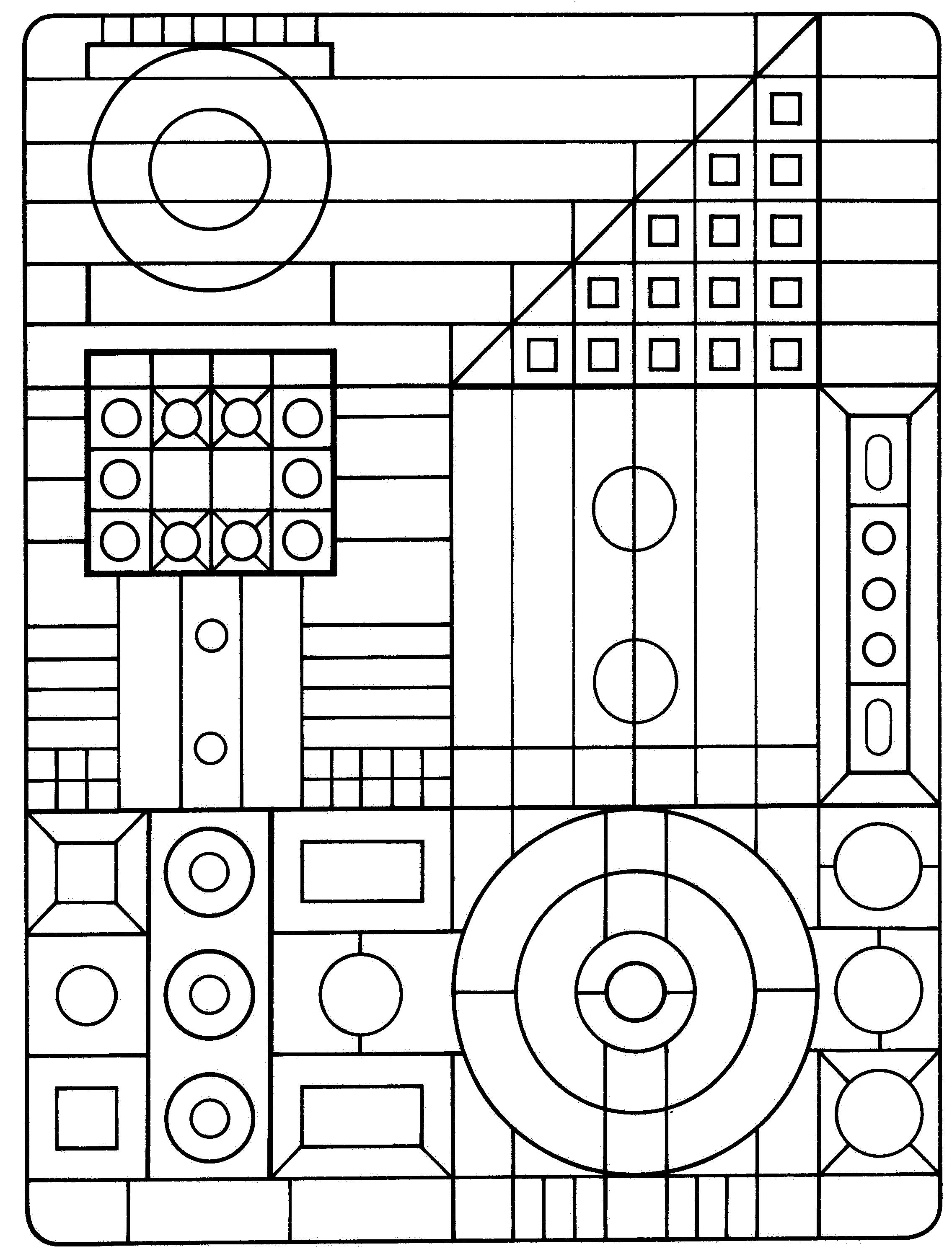 graphic about Printable Geometric Coloring Pages called Cost-free Printable Geometric Coloring Web pages For Little ones