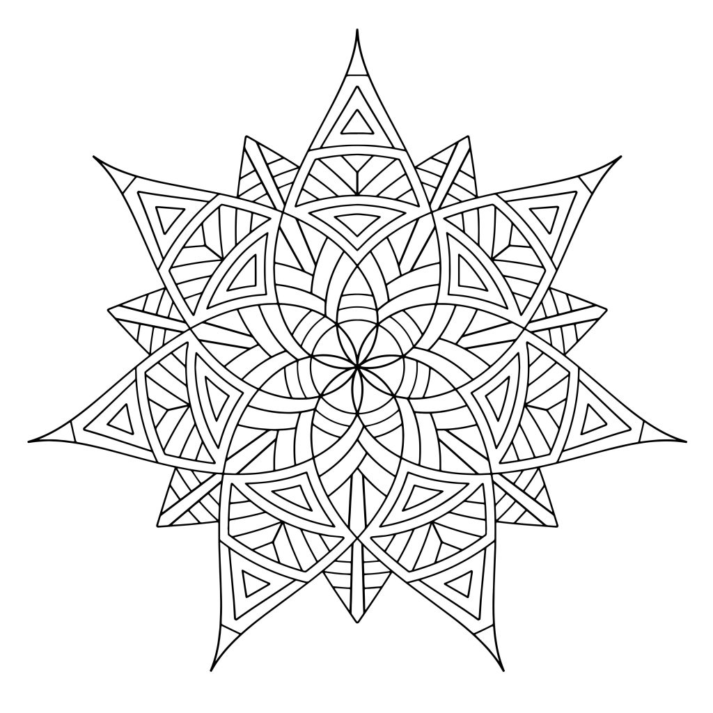 geometric coloring pages cool - photo#42
