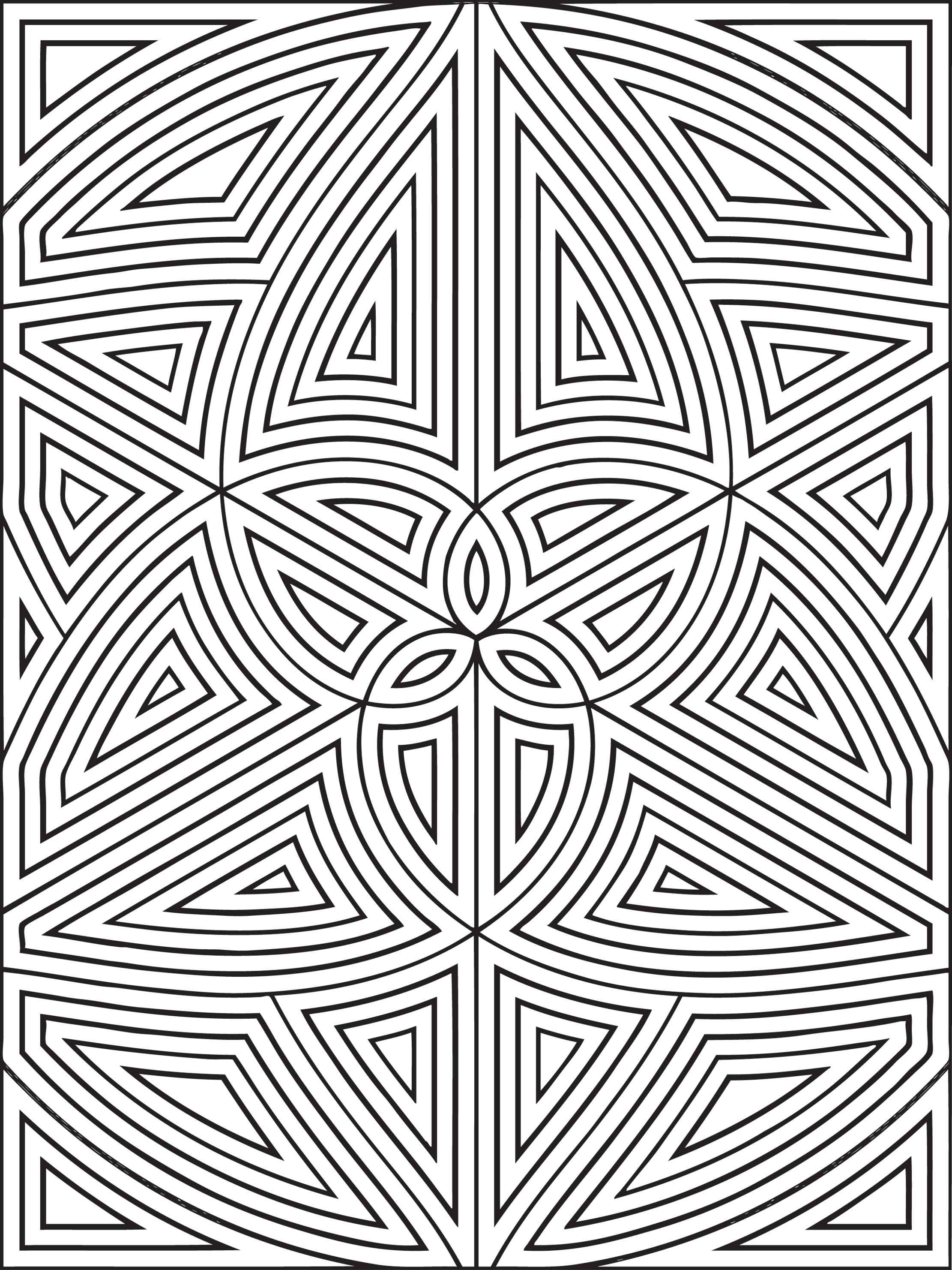 geometric shapes coloring pages Free Printable Geometric Coloring Pages For Kids geometric shapes coloring pages