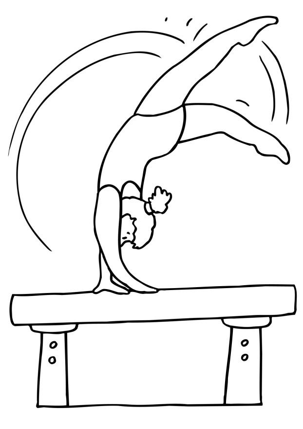 Gymnast Coloring Pages