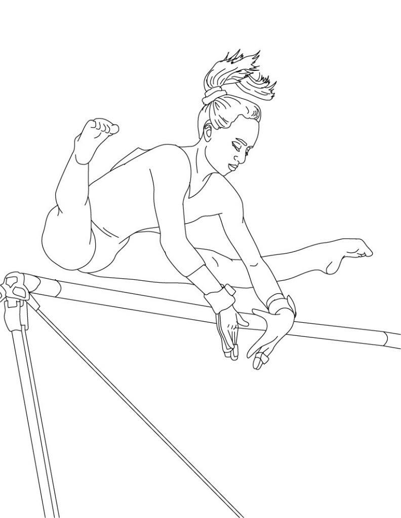 Gymnastic Coloring Page
