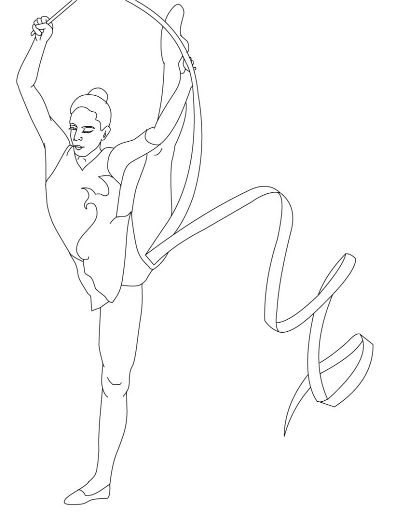 Gymnastics Coloring Pages Printable
