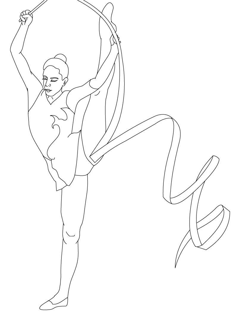 tumbling coloring pages - photo#14