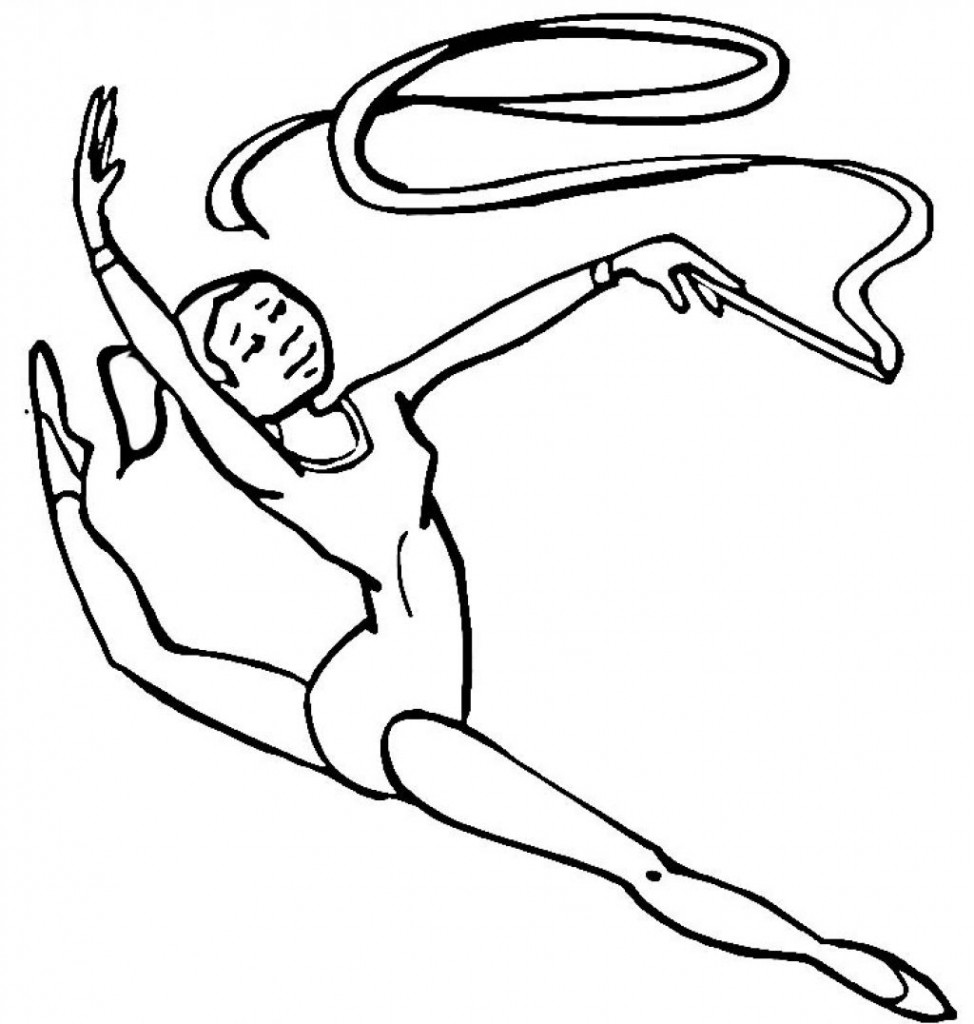 Gymnastics Coloring Pages for Kids