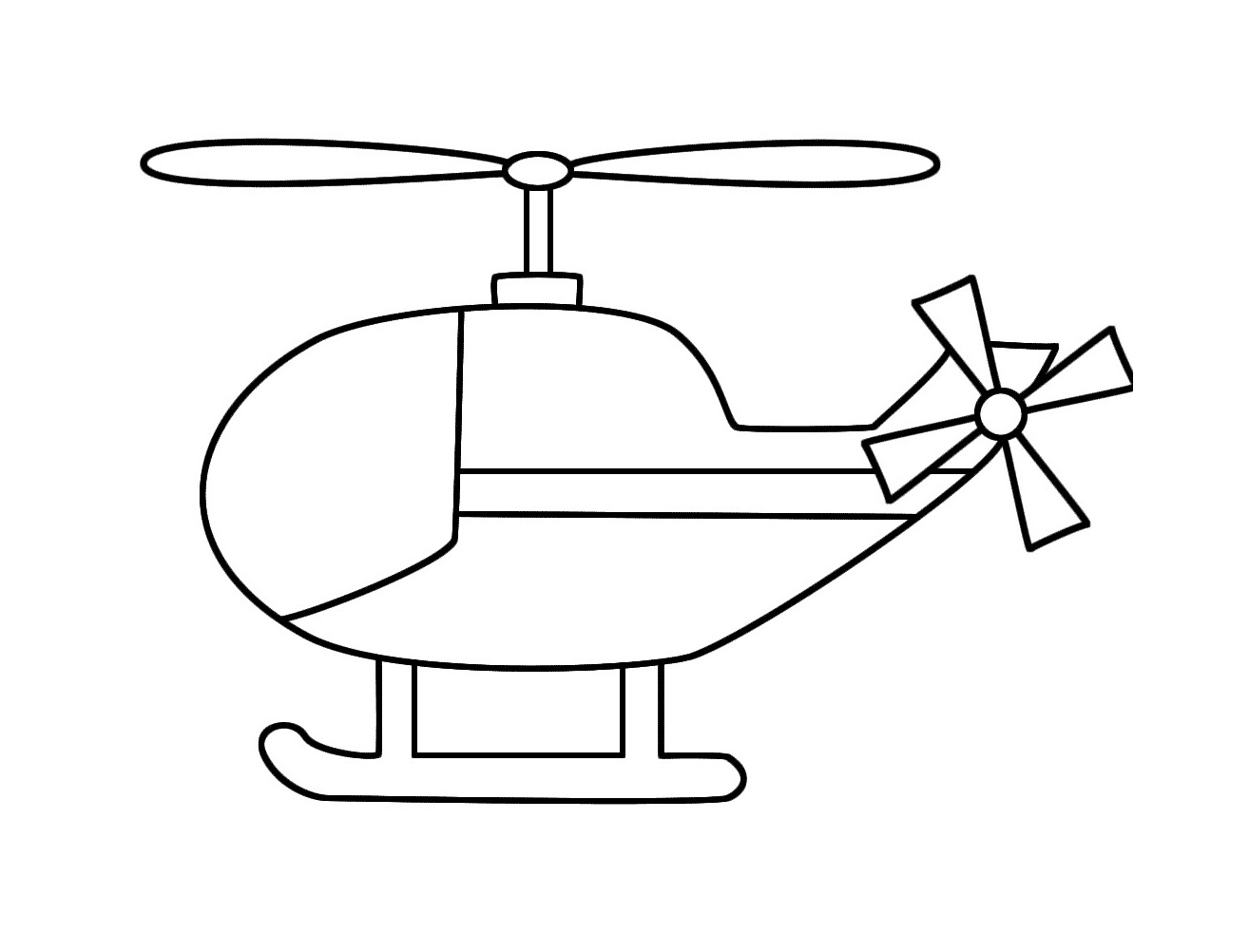 Free Printable Helicopter Coloring