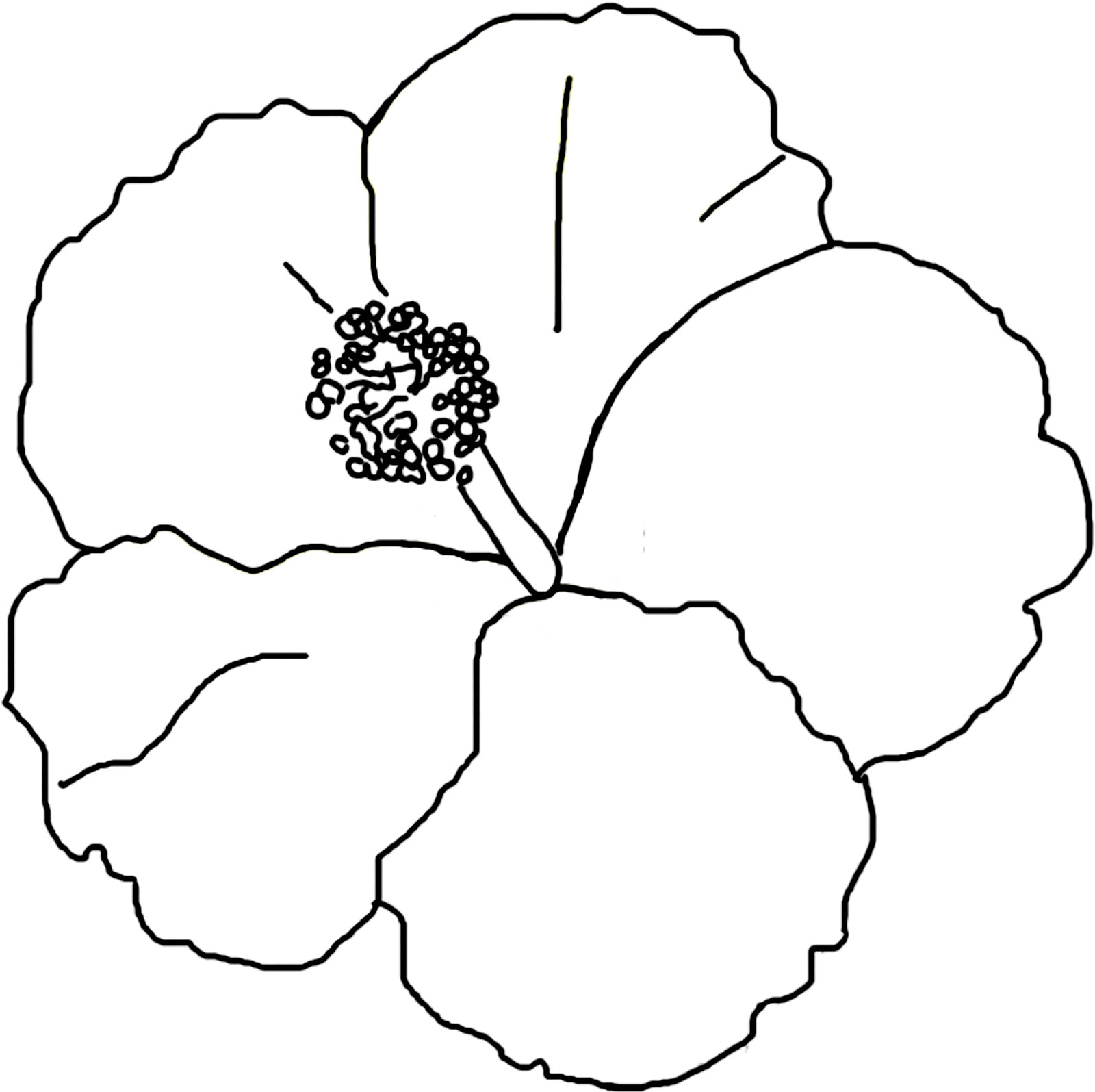 Coloring Pages Of Hibiscus Flowers