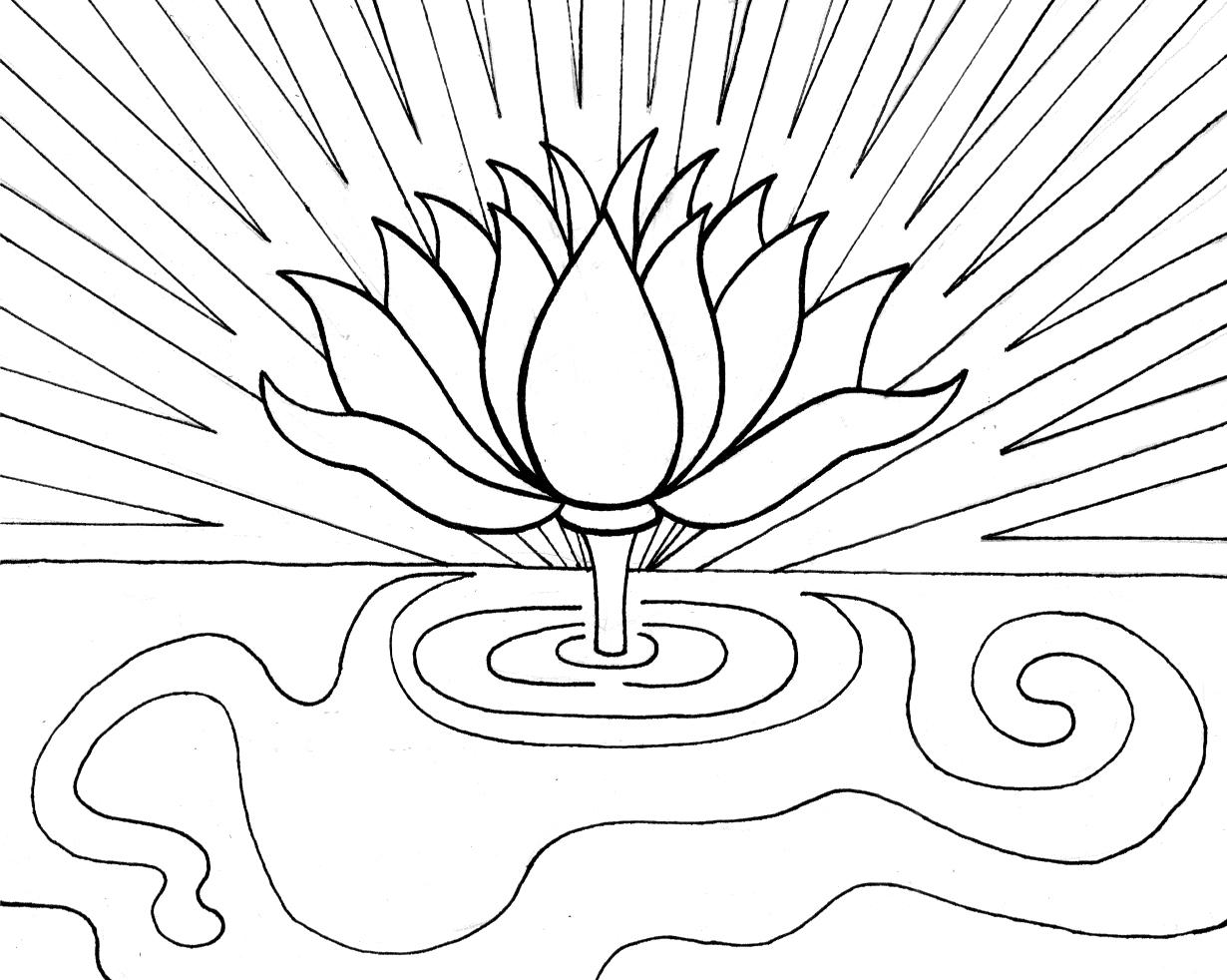 lotus coloring pages Free Printable Lotus Coloring Pages For Kids lotus coloring pages