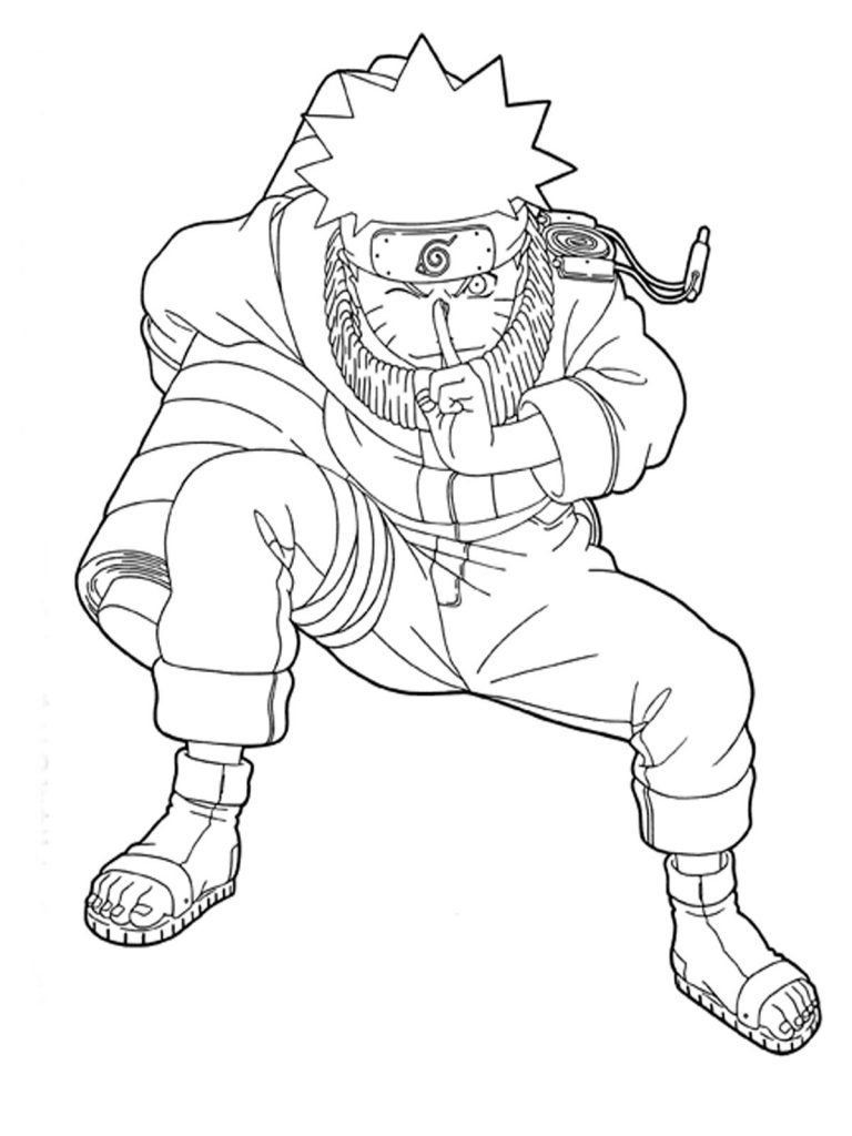 Free Printable Naruto Coloring