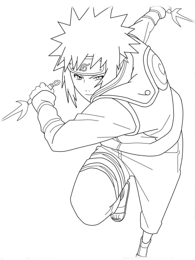 Naruto Printable Coloring Page for Kids