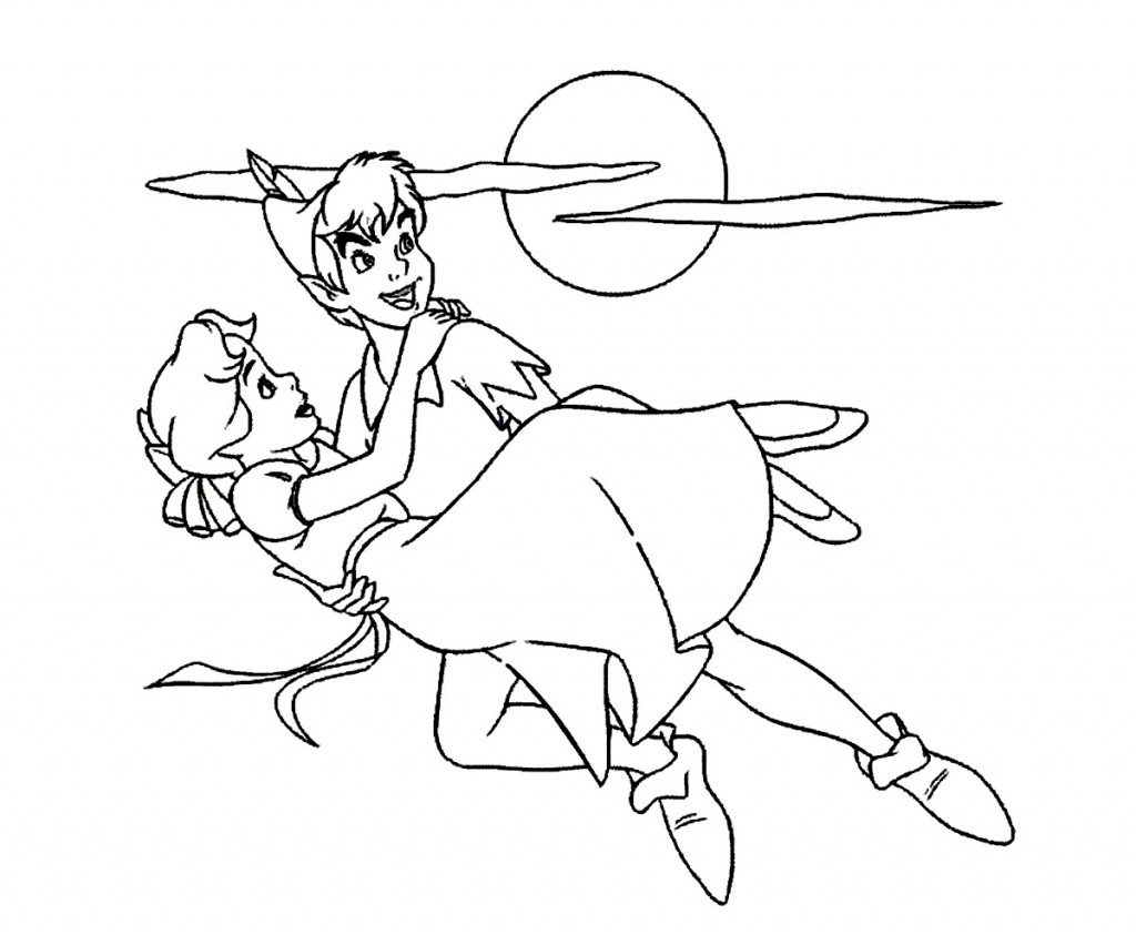 Peter Pan and Wendy Coloring Pages