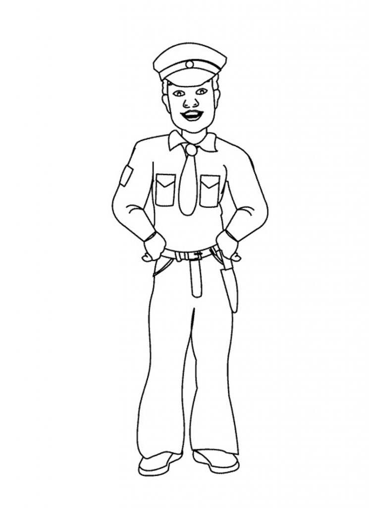 Policeman Coloring Pages for Kids