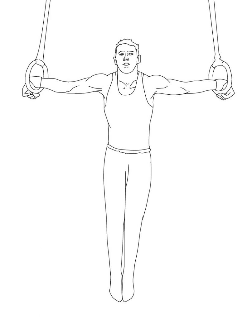 Printable Gymnastic Coloring Pages