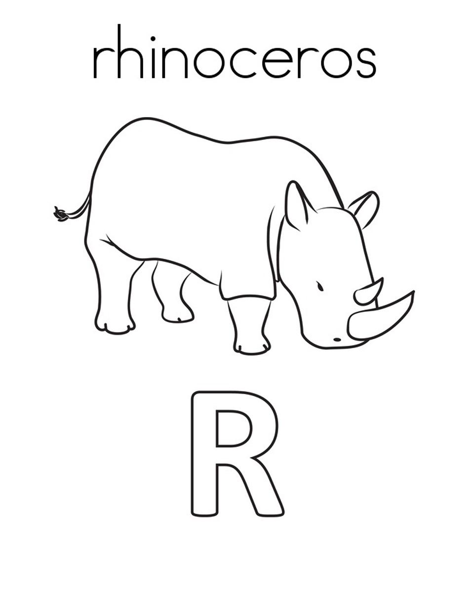 Safari coloring page | 1001 COLORINGPAGES : Animals >> Rhino ... | 1229x950
