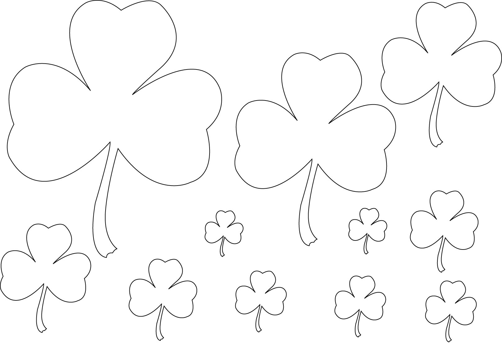 Good Luck Shamrocks Coloring Page