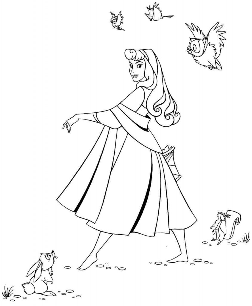 Sleeping Beauty Coloring Pages Pictures