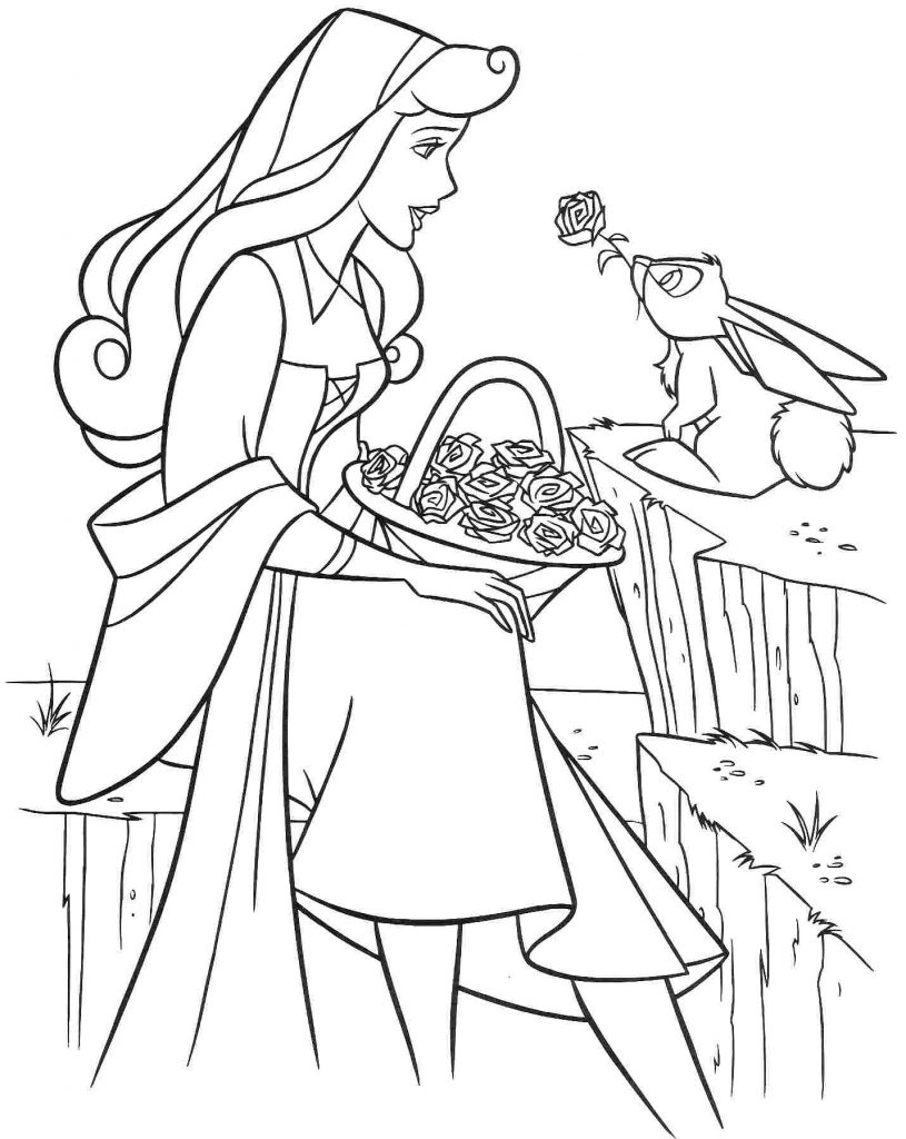 Sleeping Beauty Coloring Pages Printable