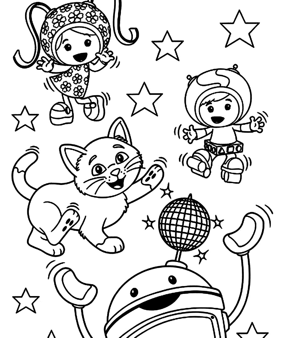 free printable team umizoomi coloring pages for kids - Umizoomi Coloring Pages Printable