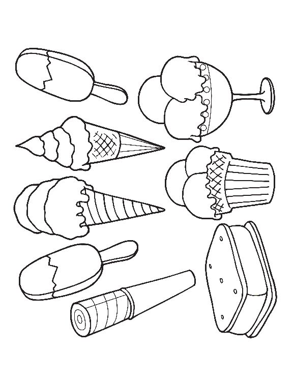 Clever image with regard to ice cream coloring pages printable