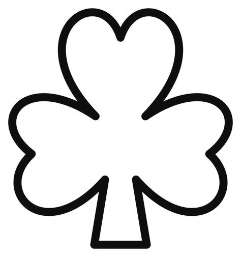 Simple shamrock coloring page
