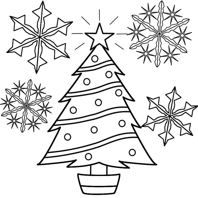 This is an image of Sly snowflakes coloring pages printable