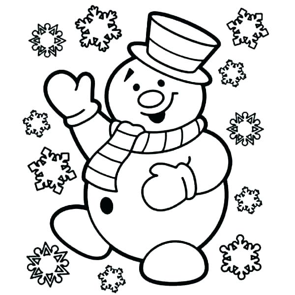 Frosty Snowflake Coloring Page