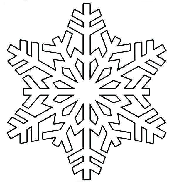 Shape of a Snowflake Coloring Page