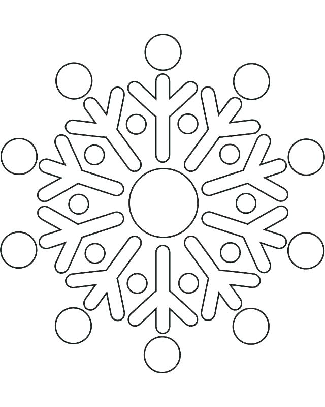 Simple Snowflake Coloring Page