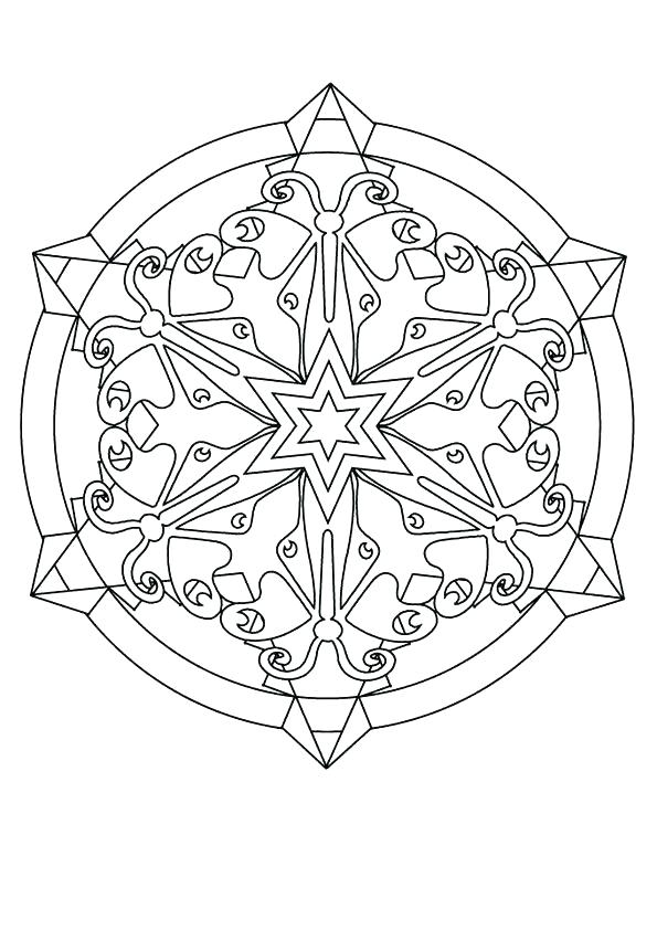 fractal coloring pages for kids - photo#39