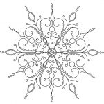 Snowflake Printable Coloring Pages
