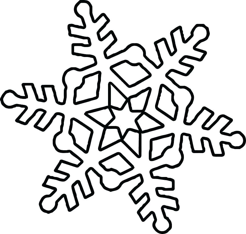 Snowflake Shape Coloring Page
