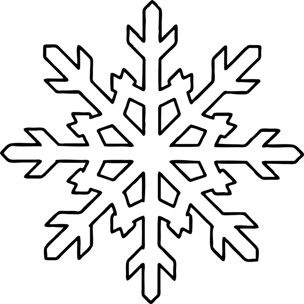 Snowflake Shape Coloring Pages