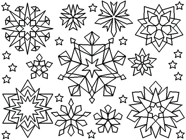 It is a picture of Insane snowflakes coloring pages printable