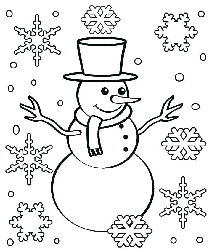 Snowman Snowflake Coloring Pages