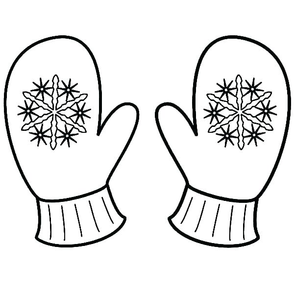 Winter Mittens - Snowflake Coloring Pages