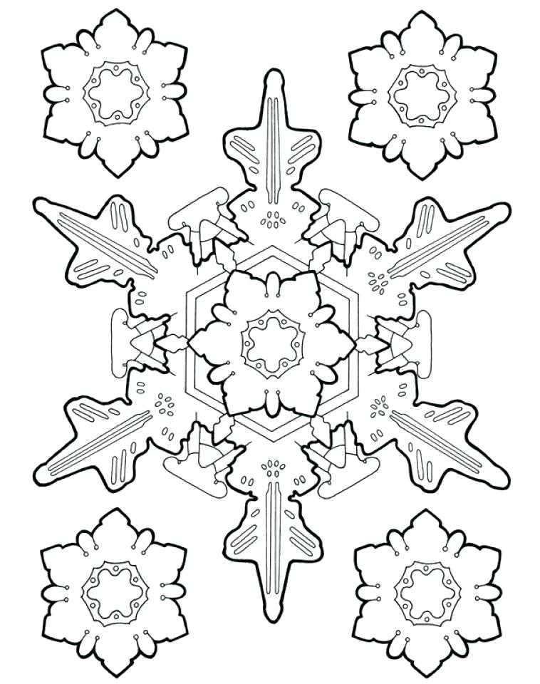 Winter Snowflake Coloring Page