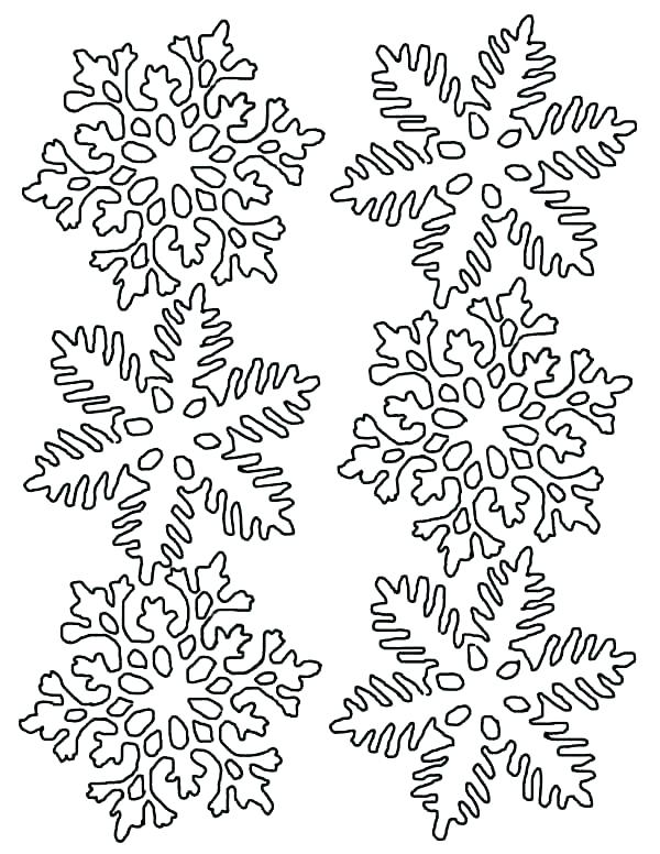 Winter Snowflake Coloring Pages