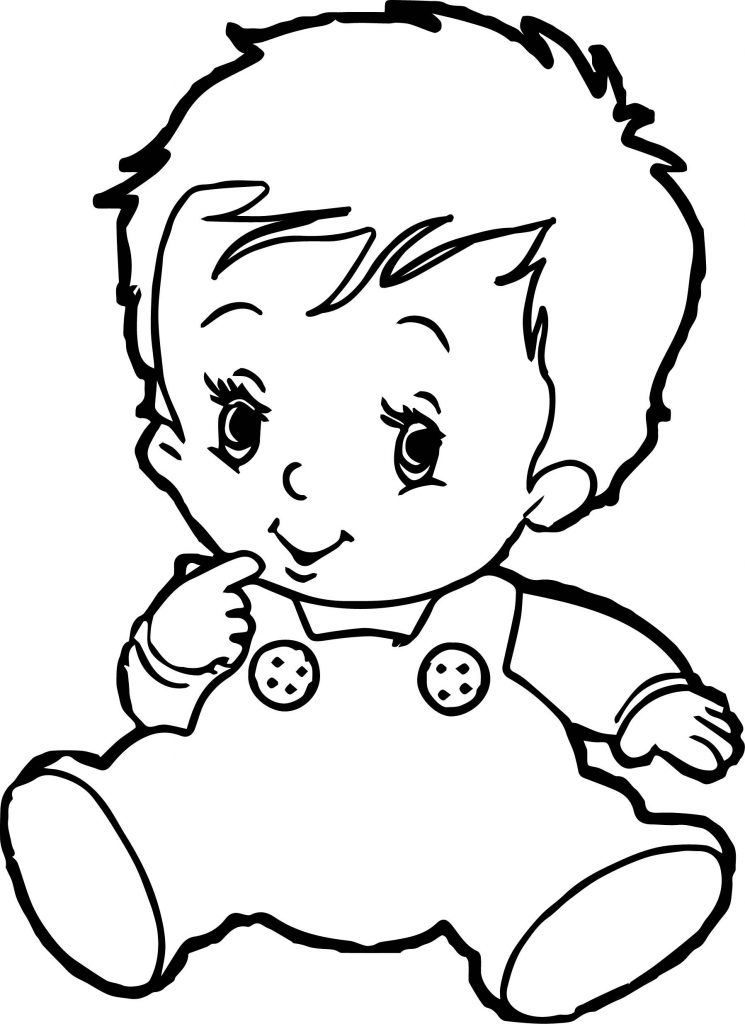 Cute Baby Coloring Pages