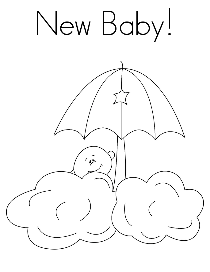 New Baby Coloring Page
