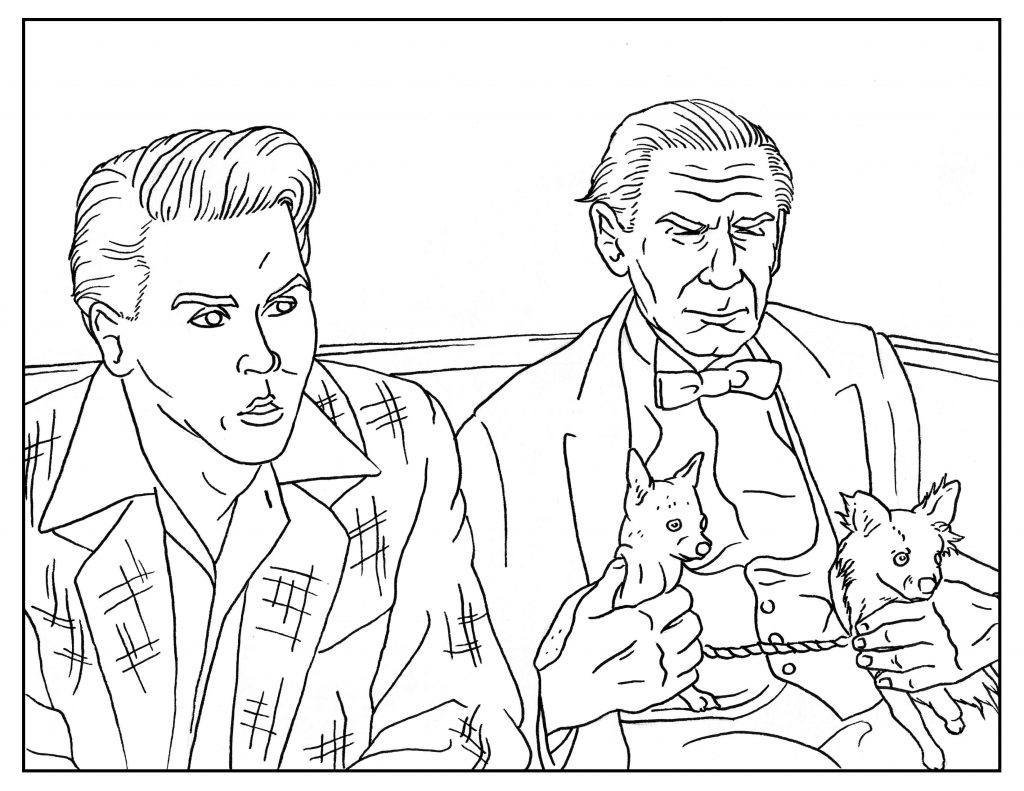 Ed Wood Adult Coloring Book Page