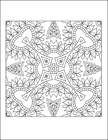 Free printable geometric coloring pages for adults Best coloring books for adults 2016