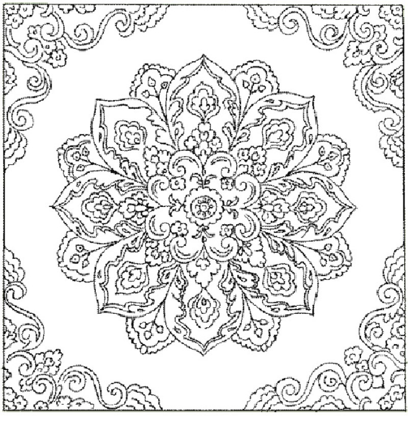 pattern coloring pages to print - photo#43
