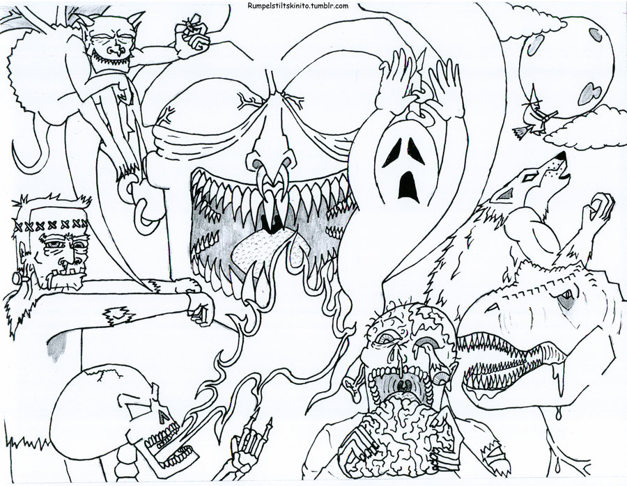 Free Printable Halloween Coloring Pages for Adults - Best Coloring ...