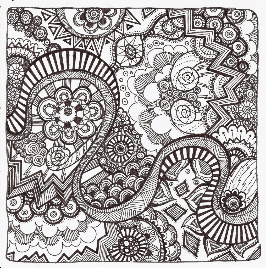 Free printable zentangle coloring pages for adults Best coloring books for adults 2016