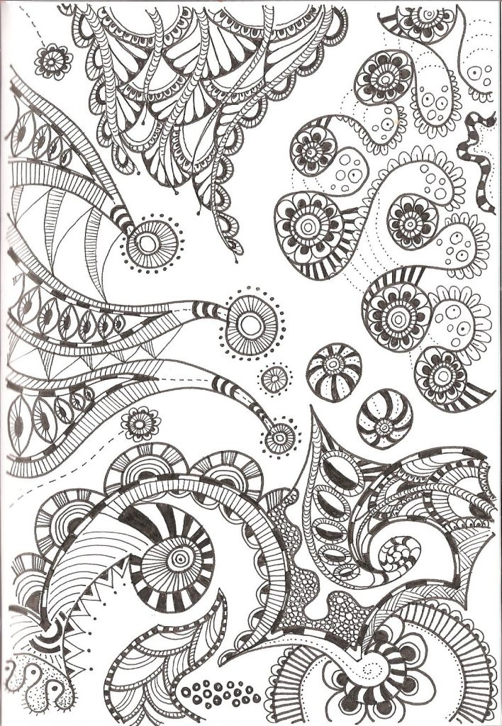 free printable zentangle coloring patterns