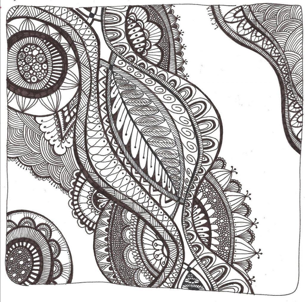 Free Printable Zentangle Coloring