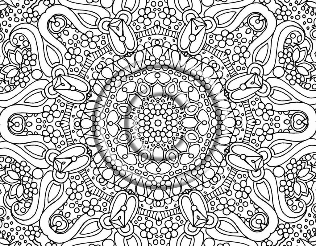 Resource image in printable abstract coloring pages